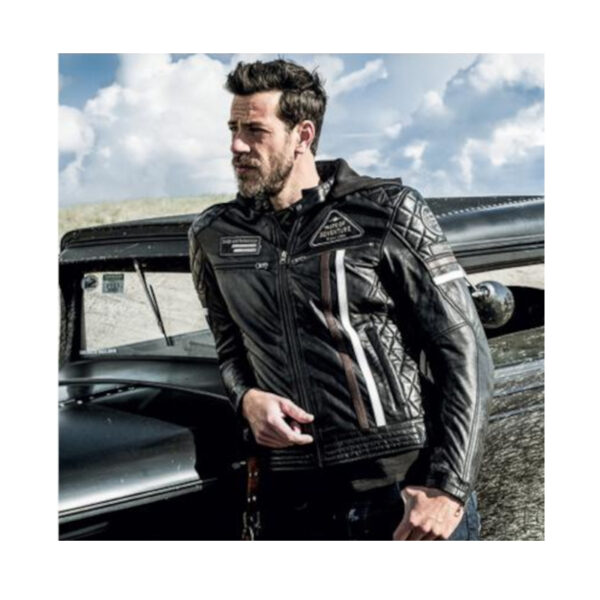 motorcykel læderjakke difi detroit