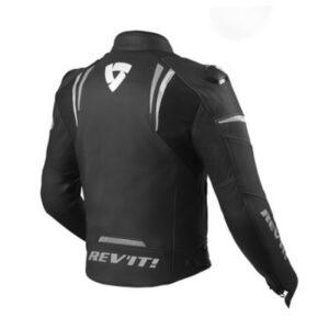 motorcykel læder jakker revit glide hvid