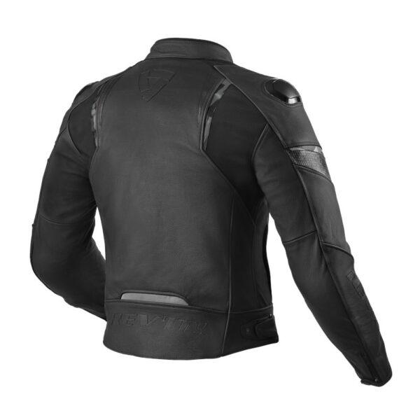 motorcykel læder jakke REVIT Glide Sort
