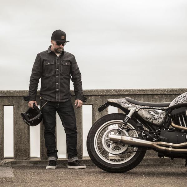 motorcykel jeans revit iron selvage raw