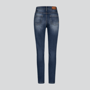 motorcykel jeans bukser rokkertech high waist blue