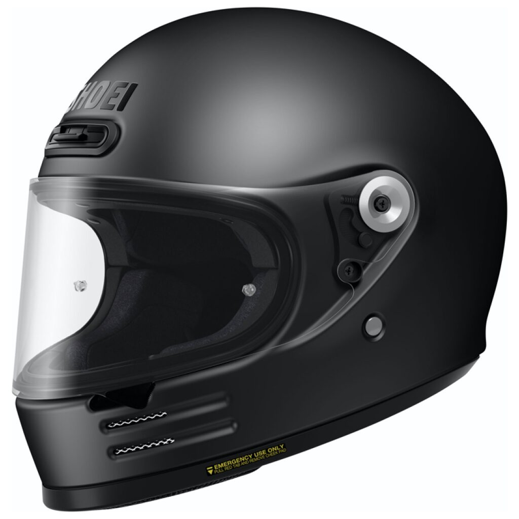 motorcykelhjelm shoei glamster matsort