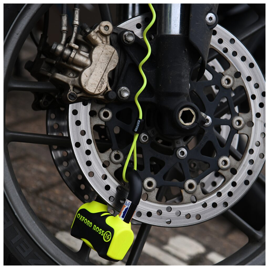 motorcykel lås oxford skivebremselås reminder
