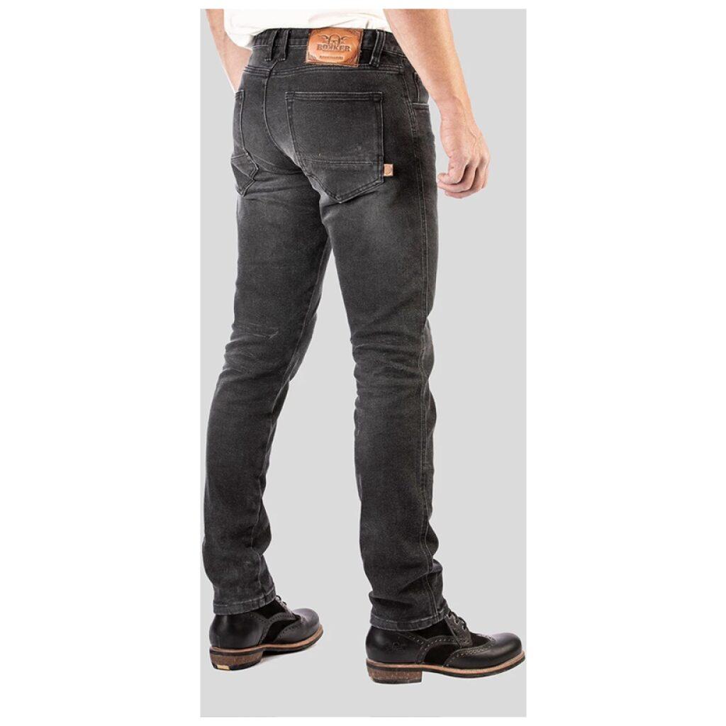 motorcykel bukser jeans rokker sort