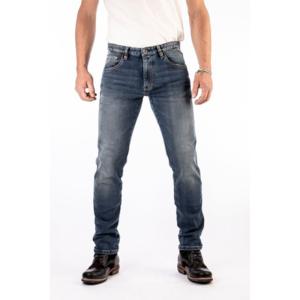 motorcykel bukers rokker jeans blå