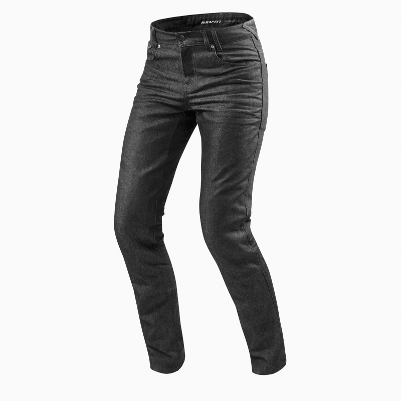 motorcykel jeans revit lombard 2 mørk grå