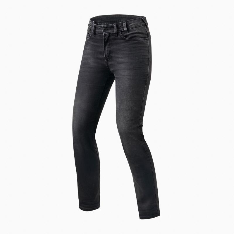 motorcykel jeans revit victoria grå
