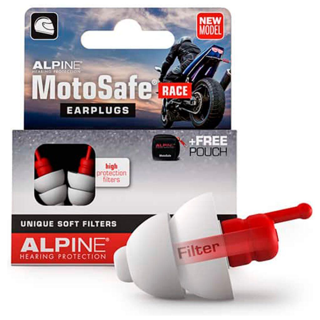 ALPINE MOTORCYKEL ØREPROPPER MOTOSAFE RACE