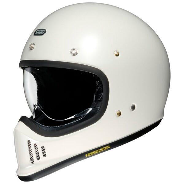 motorcykelhjelm shoei ex-zero hvid