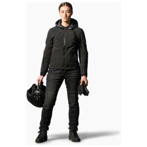 motorcykel jakke revit afterburn ladies black