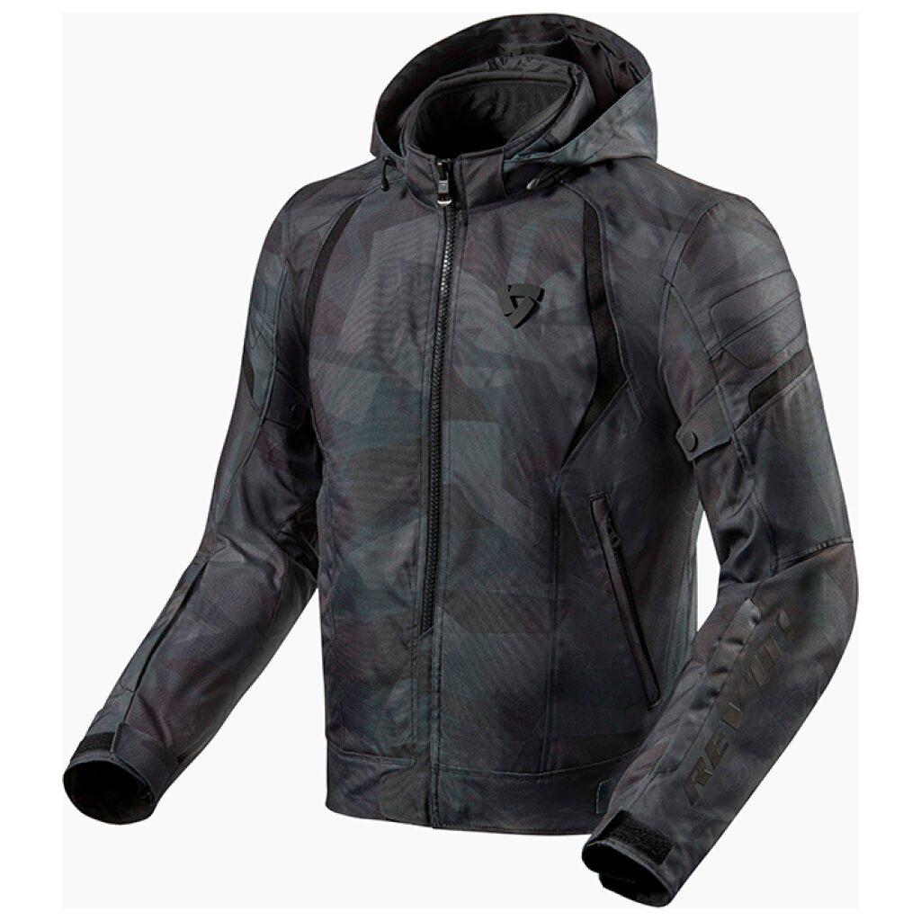 motorcykel jakke revit flare 2 camo sort grå