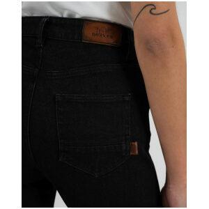 motorcykel jeans bukser rokkertech high waist black
