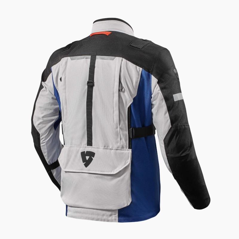 motorcykel jakke revit sand 4 silver blue