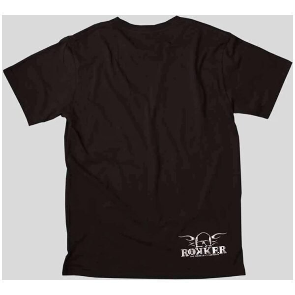 rokker t-shirt sølv logo