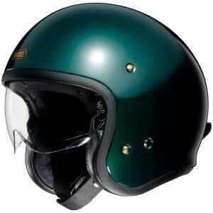 motorcykelhjelm shoei jo glossy grøn