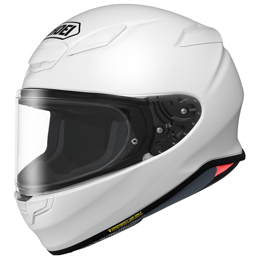 motorcykel styrthjelm shoei nxr 2 white