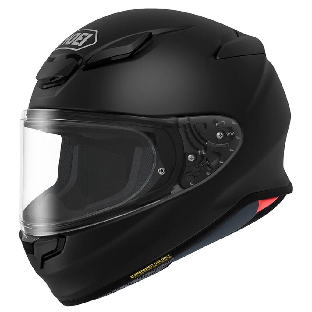 motorcykel styrthjelm shoei nxr 2 matte black